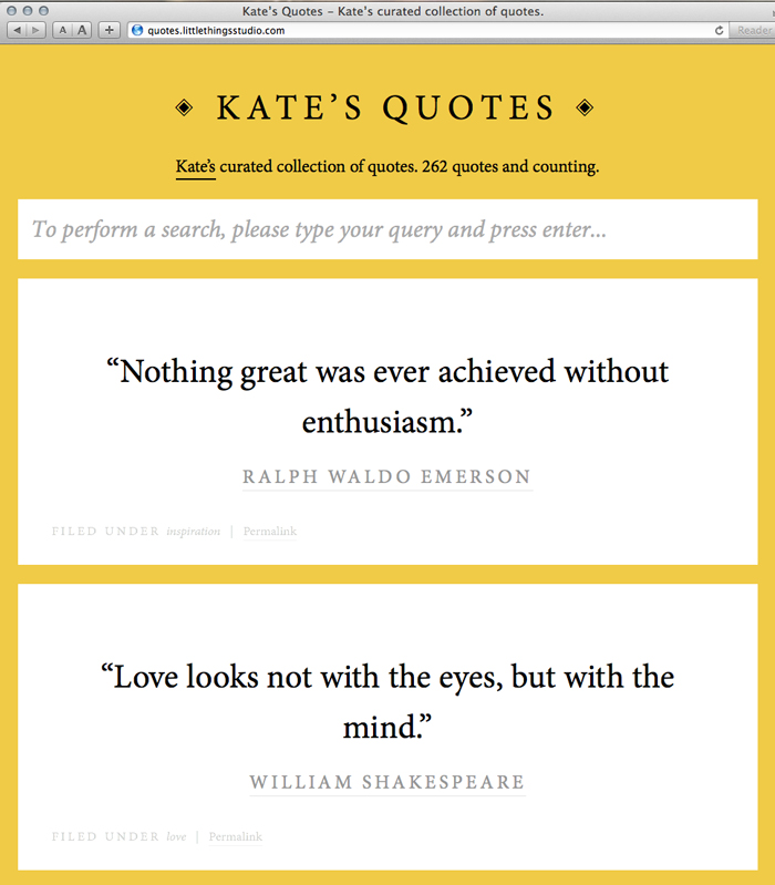 How To Quote A Website Entrancing My Quote Website  Little Things Studio