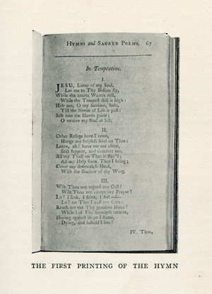 The first printing of the hymn, taken from Studies of Familiar Hymns, Second Series by Louis F. Benson