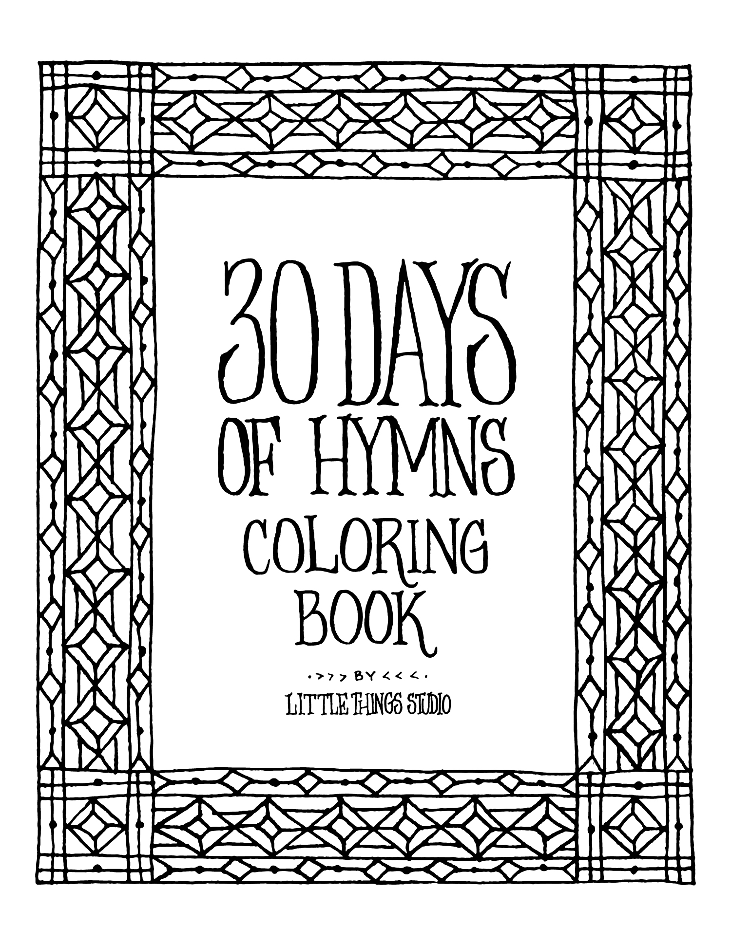 - 30 Days Of Hymns Coloring Book Download – Little Things Studio